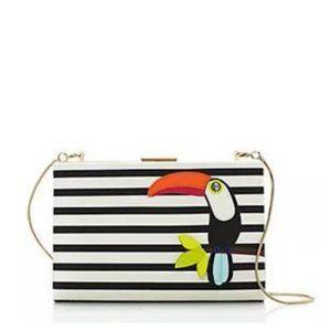 Kate Spade Toucan Emanuelle Striped Bag Purse nwot